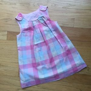 Other - Baby pink plaid apron dress 12/18m